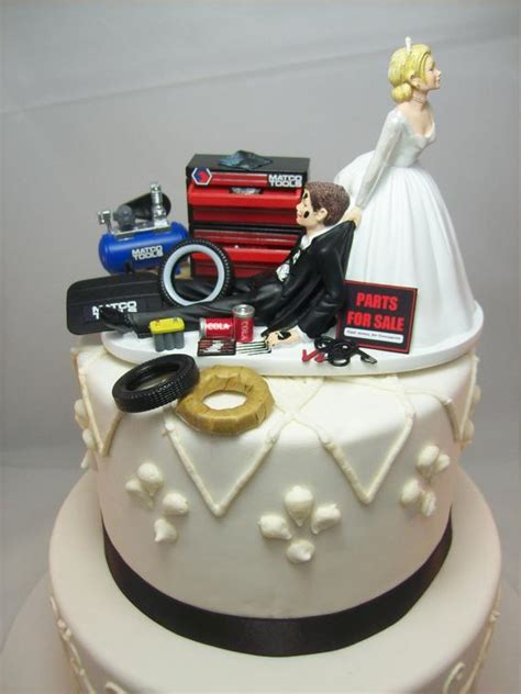 wedding cake topper for mechanics auto mechanic matco