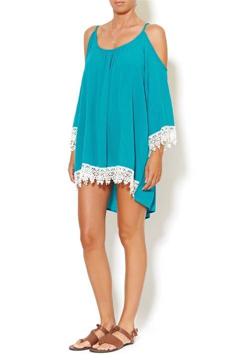 Shoulder Lace Tunic umgee usa open shoulder lace tunic from by jul s