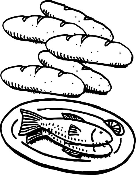 coloring pages of fish and bread fish and bread coloring page bread and fish coloring