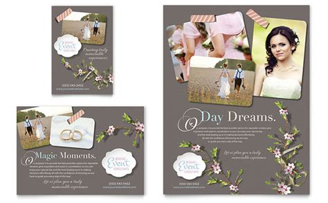 wedding dj brochure templates wedding planner flyer ad template design