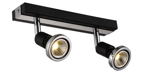 Ceiling Light Led White Black Chrome Brushed Steel 2xgu10 Black Chrome Ceiling Lights