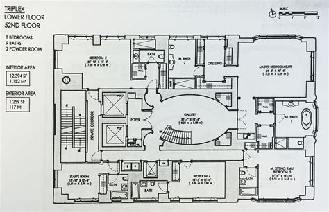 triplex floor plans the floorplan for 520 park s 130 million triplex