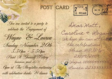 postcard wedding invites uk knots and kisses wedding stationery gorgeous vintage