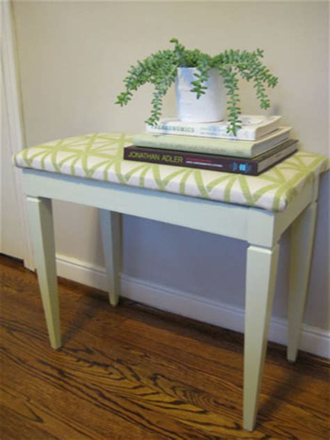 how to reupholster a piano bench how to paint reupholster and makeover a thrift store