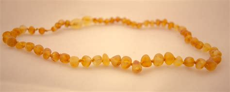 Honey Soother Amber Teething Necklace   Raw Amber Teething Necklace