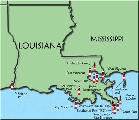 texas lighthouses map louisiana map of lighthouses southern stuff