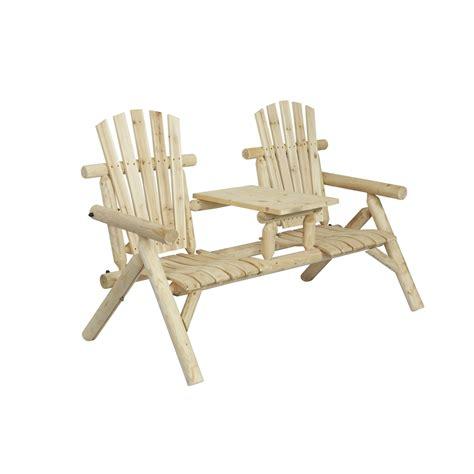 log bench seat log two seat bench natural