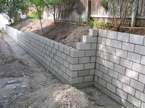 Concrete Blocks For Garden Walls Cinder Block Retaining Wall Leave It Plain So The