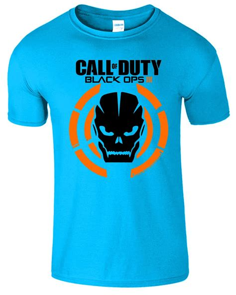 Tshirt Xbox One White call of duty t shirt black ops iii tshirt logo