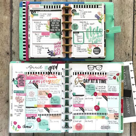 planner layout happy planner 174 mini weekly classic monthly pages of