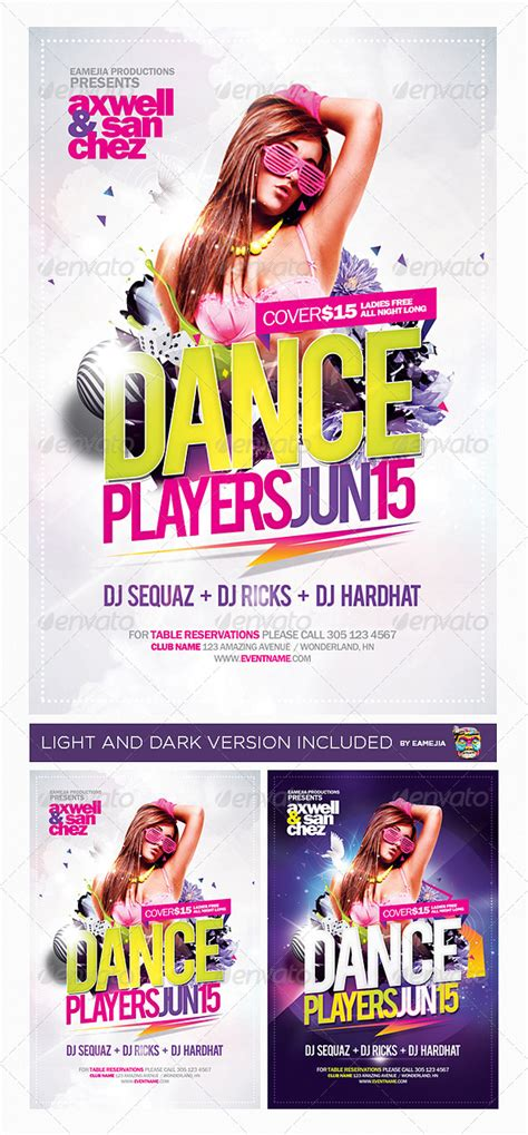 templates for dance flyers dance players flyer template by eamejia graphicriver