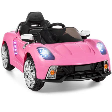 pink kid car 12v ride on car w mp3 electric battery power remote