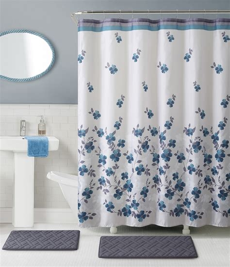 bathroom set with shower curtain shower curtain bath set kmart com