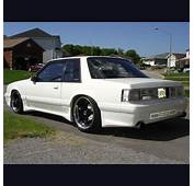White Lowered Ford Mustang LX Coupe Notchback With Body
