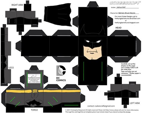 Cubee Papercraft - dcnu1 batman cubee by theflyingdachshund on deviantart