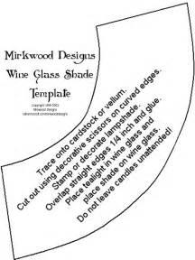 wine glass template mirkwood designs wine glass shade
