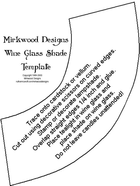 wine glass template mirkwood designs wine glass shade
