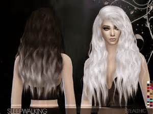 custom content hair stealthic sleepwalking hair for females sims 4 custom content