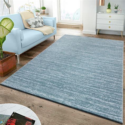 Kurzflor Teppich Blau by Moderner Teppich Kurzflor Wohnzimmer Teppiche Pflegeleicht