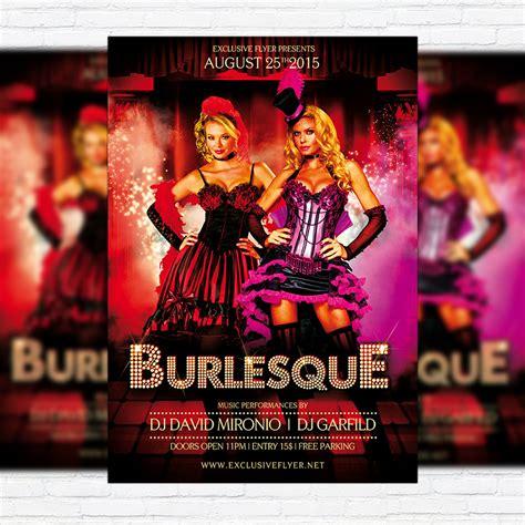 burlesque premium flyer template facebook cover