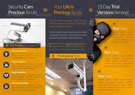alarm security code card template security systems tri fold template by grafilker graphicriver