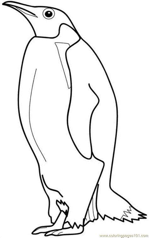 emperor penguin coloring page az coloring pages