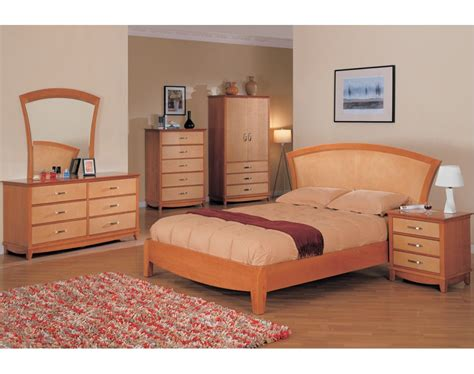 Maple Bedroom Set | julie bedroom set maple light cherry finish