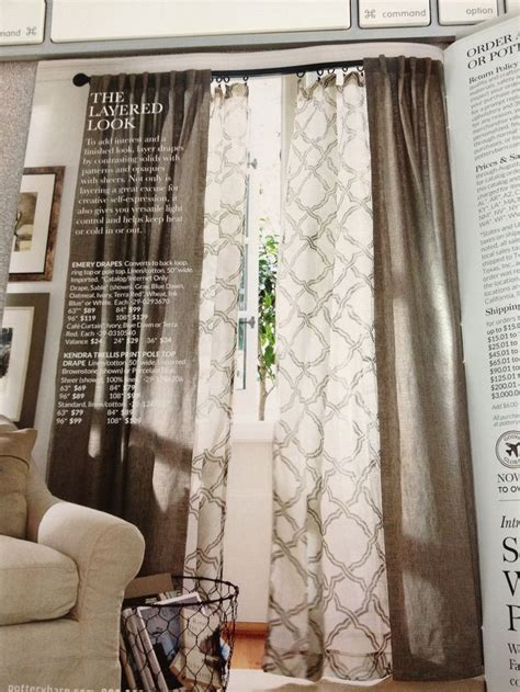 layered drapes layered curtains pottery barn pintail landing pl
