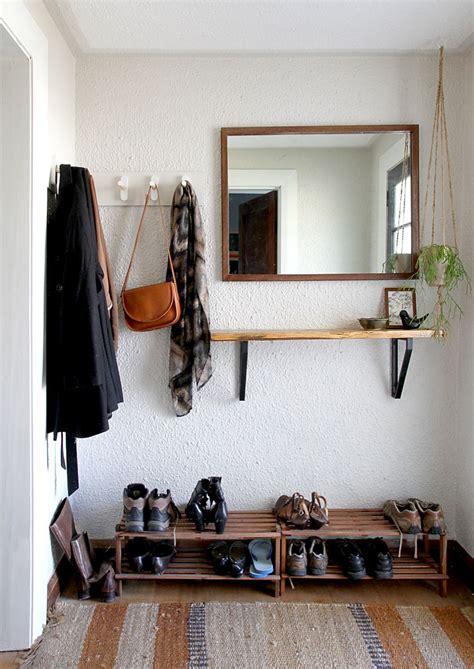 scandinavian home decor with simple wooden cushion rack diy coat rack tutorial and inspiration