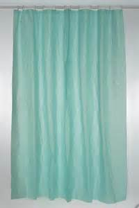 Peva Shower Curtains Plain Peva Shower Curtain Blue