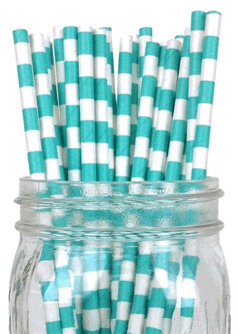 How To Make A Rugby Out Of Paper - rugby stripe paper straws 25pcs turquoise