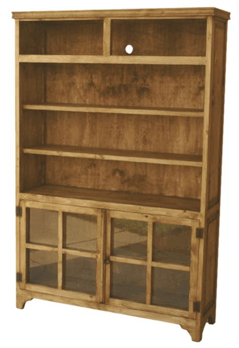 rustic bookcase pine wood bookcase and rustic shelves