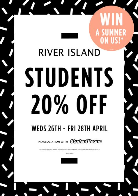 printable vouchers river island 20 student discount river island meadowlane shopping