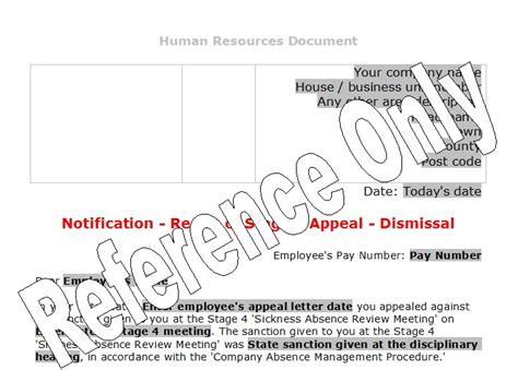 Appeal Letter Outcome Stage 4 Appeal Outcome Letter