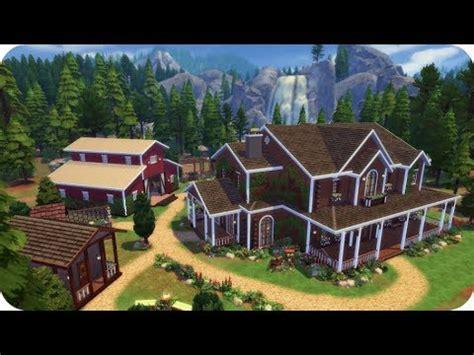 the sims house building family farm youtube idolza farm house stables sims 4 speed build family home