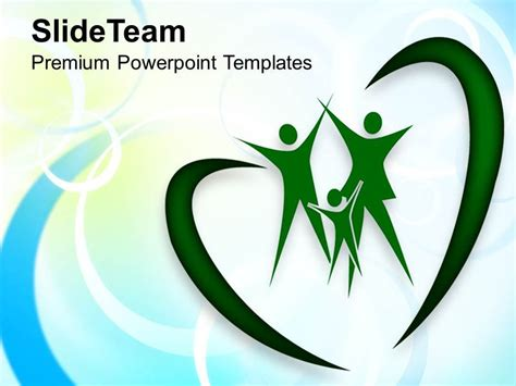 Family In Heart Shape Abstract Background Powerpoint Family Powerpoint Templates Free 2