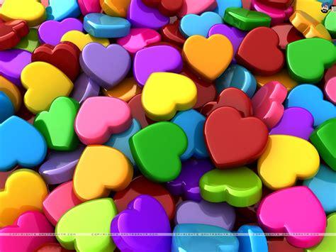 colored hearts wallpaper 131