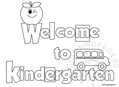 welcome coloring pages for toddlers welcome to kindergarten coloring sheet coloring page