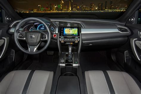 honda civic 2016 interior honda civic review and rating motor trend