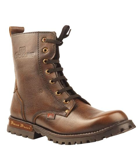 bacca bucci brown boots bacca bucci high length boots price in india buy bacca