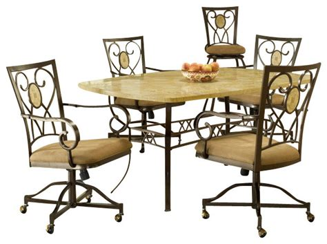 hillsdale brookside 5 rectangle dining room set w