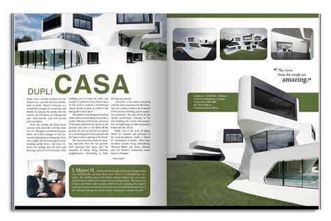 free architecture magazine dupli casa architecture magazine spread on behance