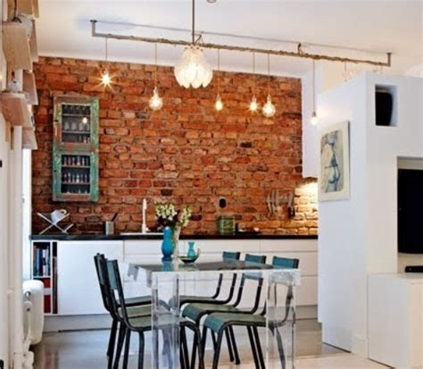 brick wall in kitchen 74 stylish kitchens with brick walls and ceilings digsdigs