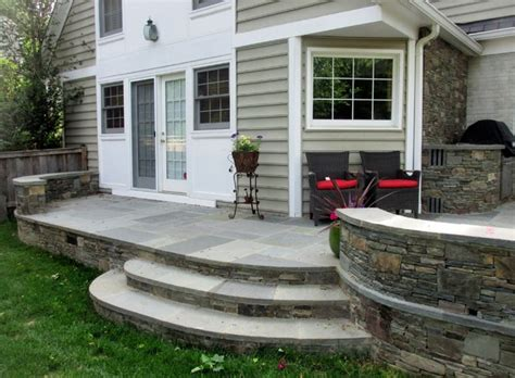 raised patio grill area