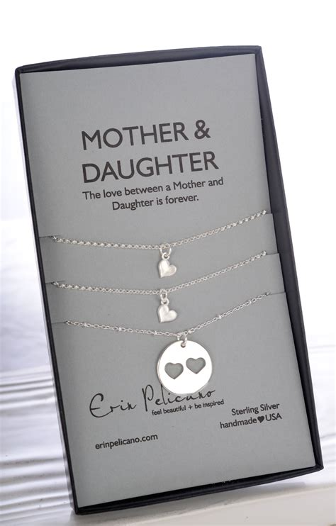 mother gifts sterling mother 2 daughter necklace shop erin pelicano