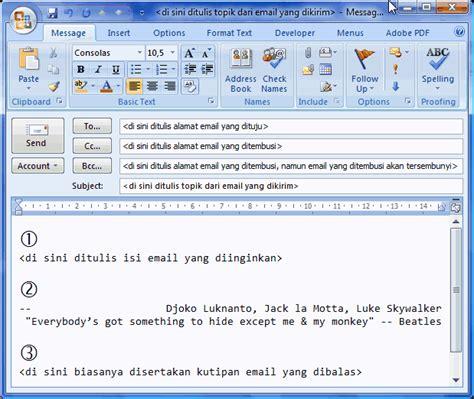 format penulisan email formal kuliah apresiasi komputer