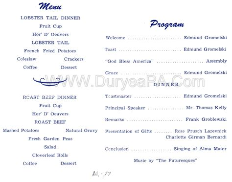 class reunion program template sle of program for high school get together
