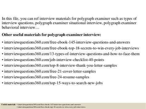 Polygraph Examiner Cover Letter by Top 10 Polygraph Examiner Questions And Answers