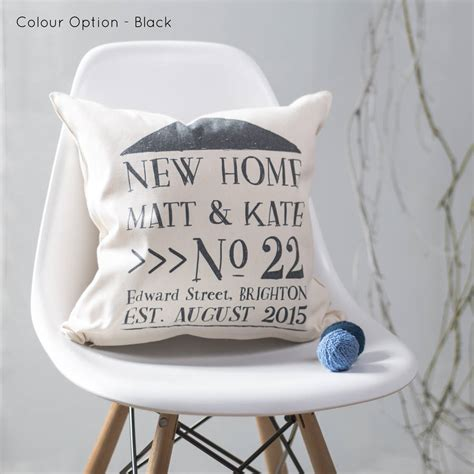 gift for new home new home cushion personalised for new home owners by