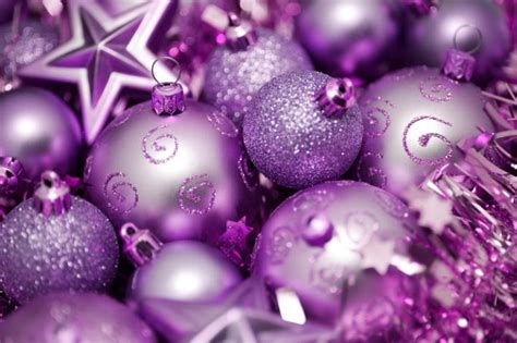 photo of purple and pink christmas ornaments free